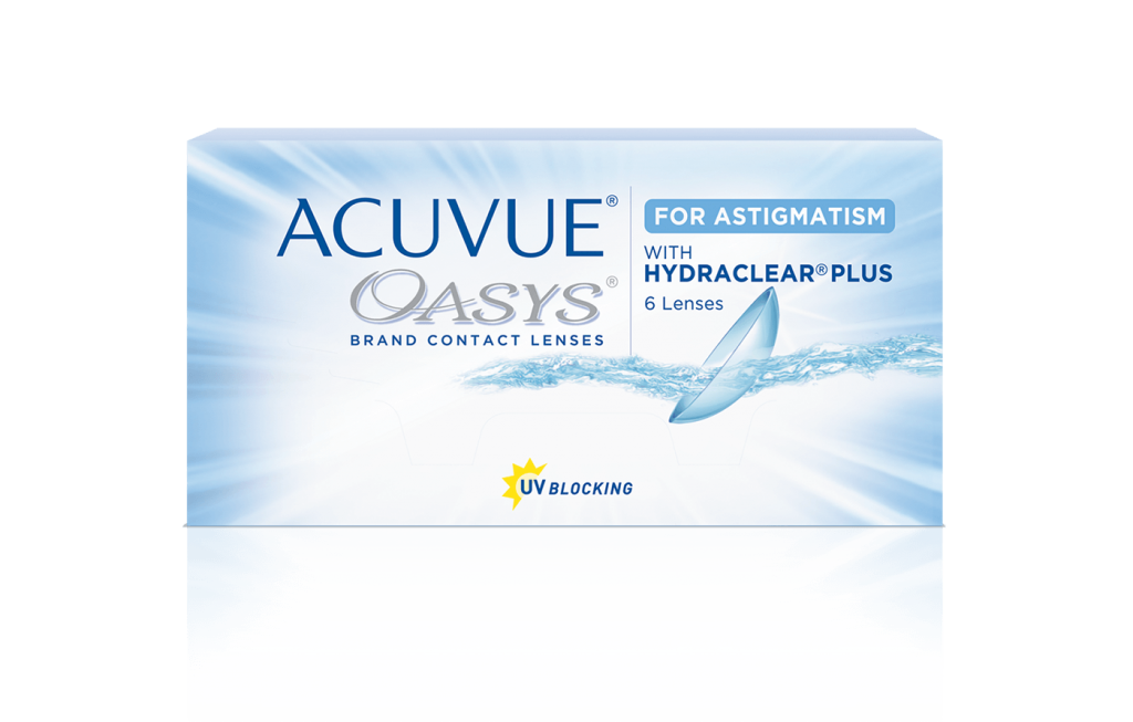Acuvue Oasys Toric Contact Lenses for Astigmatism